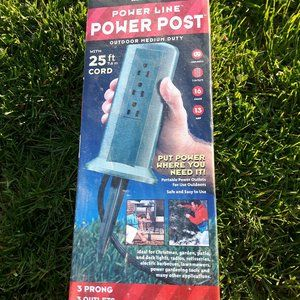 Woods Power Lie Power Post 25 ft cord Green